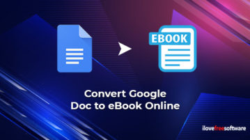 Convert Google Doc to eBook Online