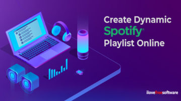 Create Dynamic Spotify Playlist Online