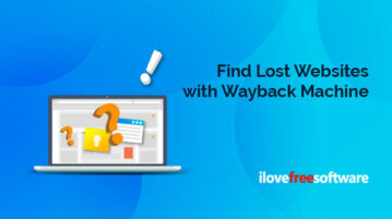 Find Lost Websites with Wayback Machine