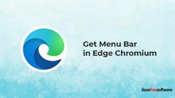 How to Get a Menu Bar in Microsoft Edge Chromium