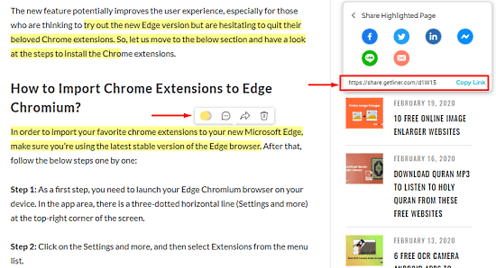 How to Highlight Webpages in Microsoft Edge Chromium 1