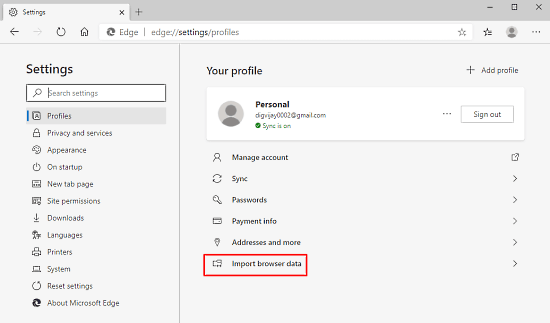 How to Import Chrome Bookmarks to Edge Chromium