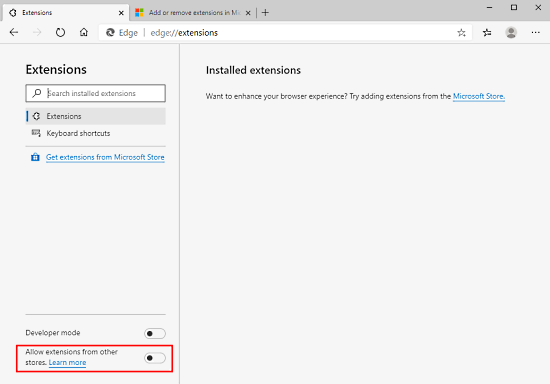 How to Import Chrome Extensions to Edge Chromium 2