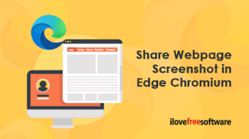 How to Share Webpage Screenshot in Microsoft Edge Chromium