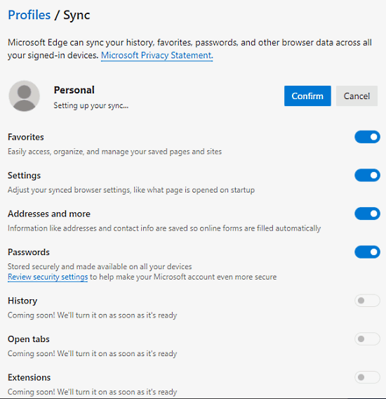 How to Sync Bookmarks, Passwords, Extensions in Microsoft Edge Chromium 4