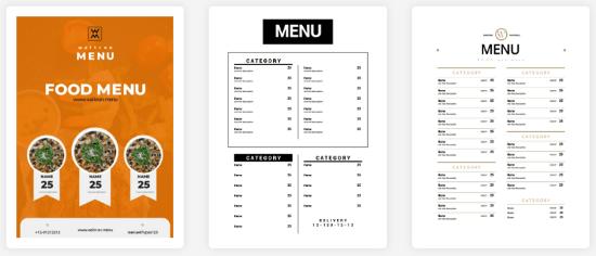 Online Menu Maker to Create Menu Card For Cafe and Restaurants