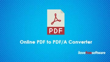 Online PDF to PDFA Converters