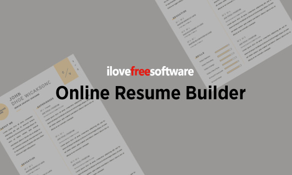 Online Resume Builder with Custom Template, Unsplash Photo Integration