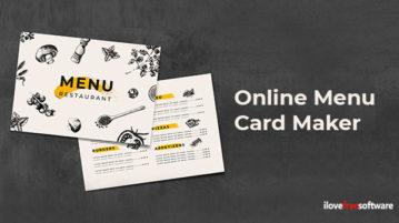 Online menu card maker