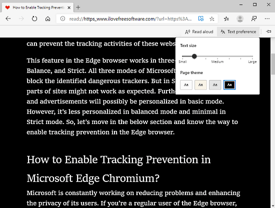 What is Immersive Reader mode in Microsoft Edge Chromium, How to use it 4