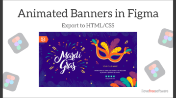 How to Create Animated Banners in Figma, Export to HTML