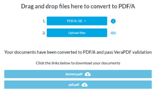 convert PDF to PDFA file online