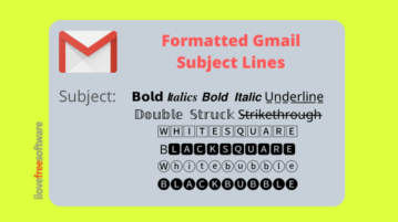 How to Add Bold, Italic, Underline Text to Email Subject Lines in Gmail?