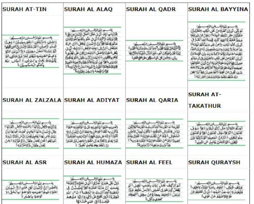 free website for short surah in Quran