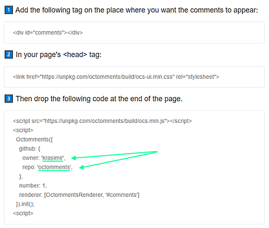 Add GitHub Issues as Comments on Your Website