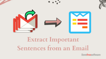 Free Gmail Summarizer to Extract Important Sentences from Email Thread