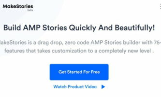 Drag and Drop AMP Story Creation Tool: MakeStories