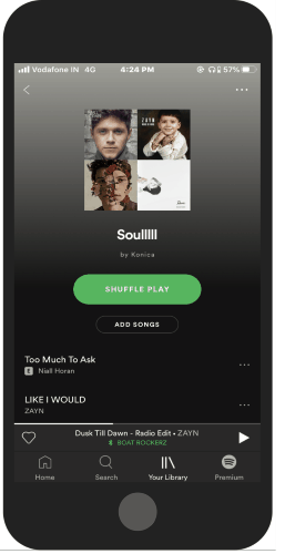 open your Spotify playlists