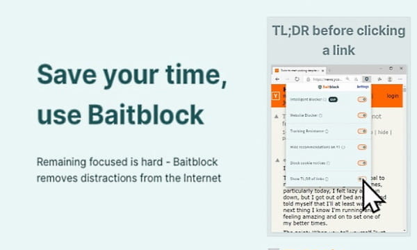 Remove Distractions from the Internet to Stay Focused: BaitBlock
