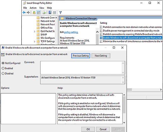Soft Disconnect a PC from Network in Windows 10