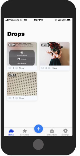 upload media files from your phone