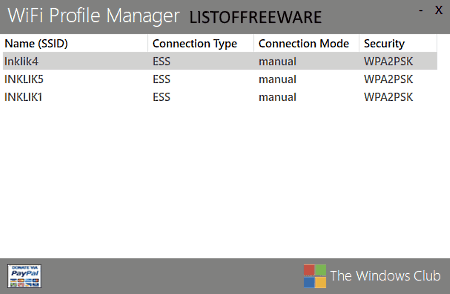 view saved wifi password using WiFi Profile Manager