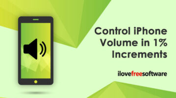 Control iPhone Volume in 1% Increments