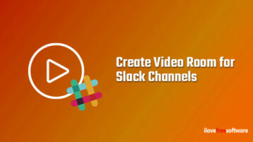 Create Video Room for Slack Channels