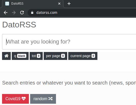 DatoRSS Interface