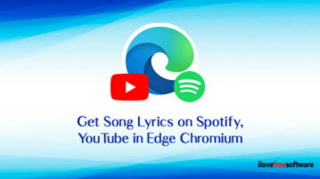 Get Song Lyrics on Spotify, YouTube in Microsoft Edge Chromium