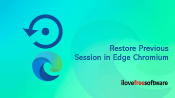 How to Restore a Previous Session in Microsoft Edge Chromium