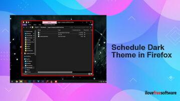 How to Schedule Dark Theme in Firefox