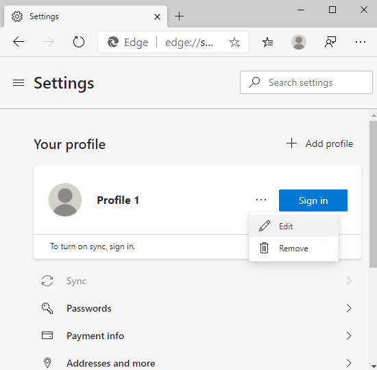 How to Use Multiple User Profiles in Microsoft Edge Chromium 4