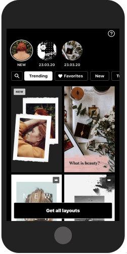 Instagram story video maker app for iPhone