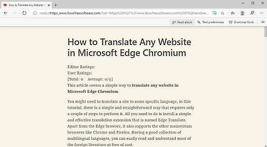 Listen to Webpages with 'Read Aloud' Feature in Microsoft Edge Chromium 1