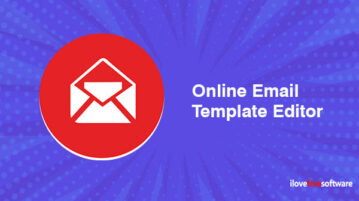 Online email template editor