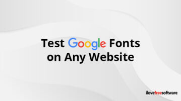 Test Google Fonts on Any Website
