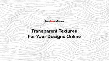 Transparent Textures For Your Designs Online