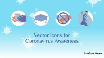 Vector Icons for Coronavirus Awareness
