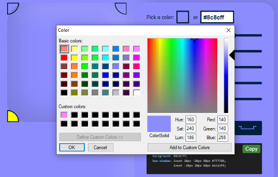 add custom color for your icon designs