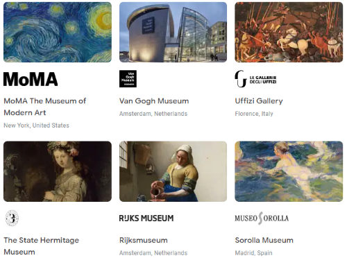 browse collection of museums