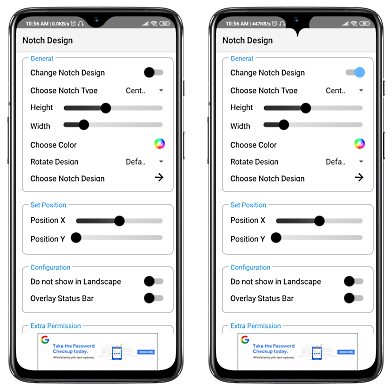 Change Smart Phone Notch Design on Android