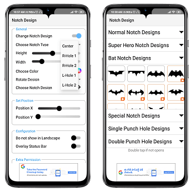 Change Notch Design on Android Phones