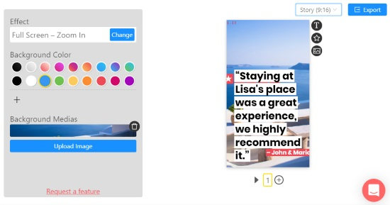 create animated Instagram stories