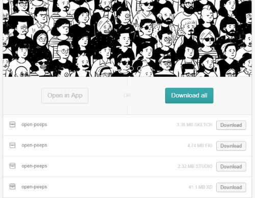 download hand drawn full library as zip file