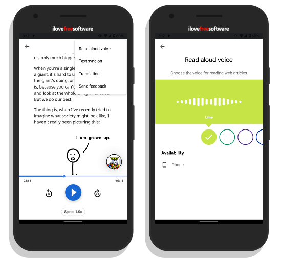 Google Assistant Read It Aloud feature