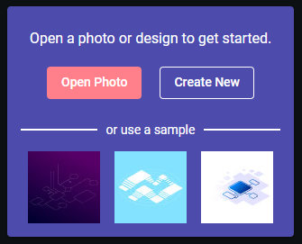 open the design file to edit