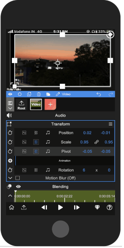 use flexible features to edit the video