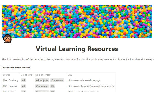 Free Online Educational Resources for Kids to Learn from Home