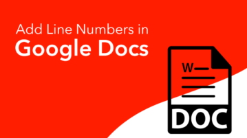 Add line numbers in Google Docs